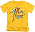 Shazam kids t-shirt Power Bolt yellow