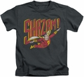 Shazam kids t-shirt Retro Marvel charcoal
