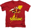 Shazam kids t-shirt Standing Tall red