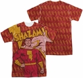 Shazam mens full sublimation t-shirt Shazam! Bolts