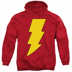Shazam pull-over hoodie Logo adult red