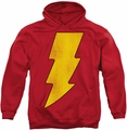 Shazam! pull-over hoodie Logo Distressed adult red