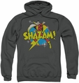Shazam! pull-over hoodie Power Bolt adult charcoal