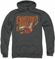 Shazam pull-over hoodie Retro Marvel adult charcoal