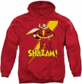 Shazam! pull-over hoodie Proud adult red