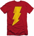 Shazam slim-fit t-shirt Logo Distressed mens red
