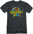 Shazam slim-fit t-shirt Power Bolt mens charcoal