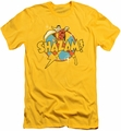 Shazam slim-fit t-shirt Power Bolt mens yellow