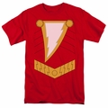 Shazam t-shirt costume mens red