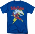 Shazam t-shirt Let's Fly mens royal blue