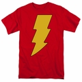 Shazam t-shirt Logo mens red