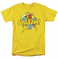 Shazam t-shirt Power Bolt mens yellow