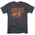 Shazam t-shirt Retro Marvel mens charcoal