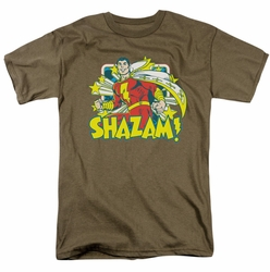 Shazam t-shirt Stars mens safari green