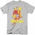 Shazam t-shirt Transformation mens silver
