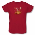 Flash womens t-shirt Crimson Comet red