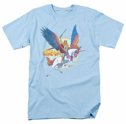 She Ra t-shirt And Swiftwind mens light blue