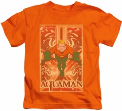 Sheldon Cooper kids t-shirt Aquaman orange
