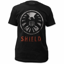 SHIELD fitted jersey tee logo mens black pre-order
