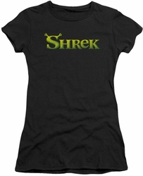 Shrek juniors t-shirt Logo black