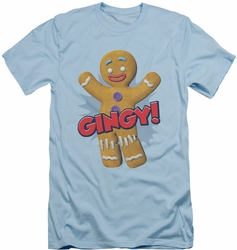Shrek slim-fit t-shirt Gingy mens light blue