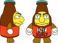 Simpsons Surly Duff Mini Figure