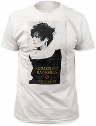 Siouxsie & the Banshees join hands fitted jersey tee mens white pre-order