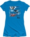Six Million Dollar Man juniors t-shirt Better Stronger Faster turquoise