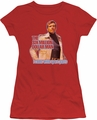 Six Million Dollar Man juniors t-shirt Spare Parts red