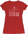 Six Million Dollar Man juniors t-shirt Target red