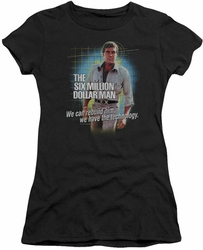 Six Million Dollar Man juniors t-shirt Technology black