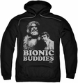Six Million Dollar Man pull-over hoodie Bionic Buddies adult black