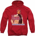 Six Million Dollar Man pull-over hoodie Spare Parts adult red