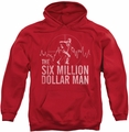 Six Million Dollar Man pull-over hoodie Target adult red