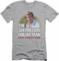 Six Million Dollar Man slim-fit t-shirt Better. Stronger. Faster. mens silver