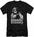 Six Million Dollar Man slim-fit t-shirt Bionic Buddies mens black