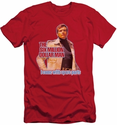 Six Million Dollar Man slim-fit t-shirt Spare Parts mens red