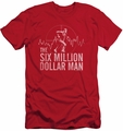 Six Million Dollar Man slim-fit t-shirt Target mens red
