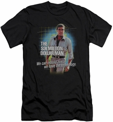 Six Million Dollar Man slim-fit t-shirt Technology mens black
