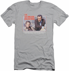 Six Million Dollar Man slim-fit t-shirt The First mens silver
