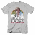 Six Million Dollar Man t-shirt Better. Stronger. Faster. mens silver