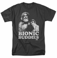 Six Million Dollar Man t-shirt Bionic Buddies mens black