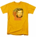 Six Million Dollar Man t-shirt Run Faster mens gold