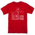 Six Million Dollar Man t-shirt Target mens red