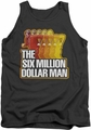 Six Million Dollar Man tank top Run Fast mens charcoal
