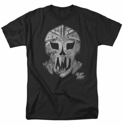 Slap Shot t-shirt Goalie Mask mens black
