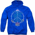 Smarties pull-over hoodie Peace Lollies adult royal blue