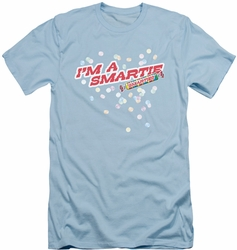 Smarties slim-fit t-shirt I'm A Smartie mens light blue