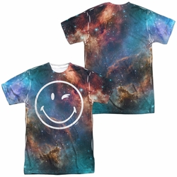 Smiley World mens full sublimation t-shirt Galactic Smiley
