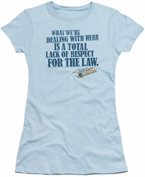 Smokey and The Bandit juniors t-shirt Lack of Respect light blue